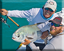 flats fishing Key West a nice permit is released.